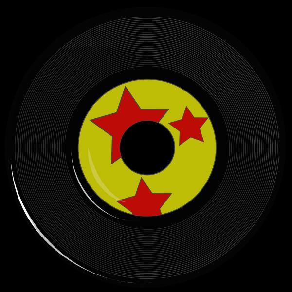 Vector drawing of vinyl record