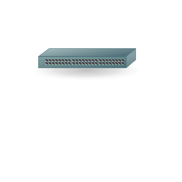 48-Port switch vector drawing