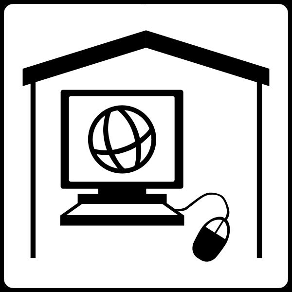 Hotel has internet in room vector icon