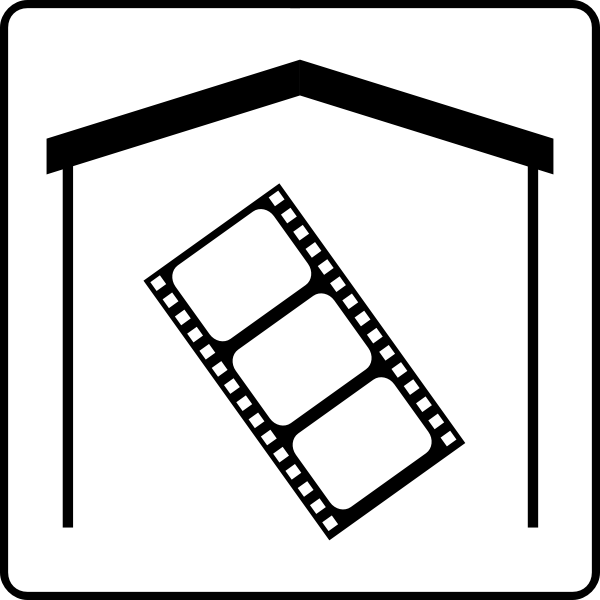 Hotel has Movies In Room icon vector image