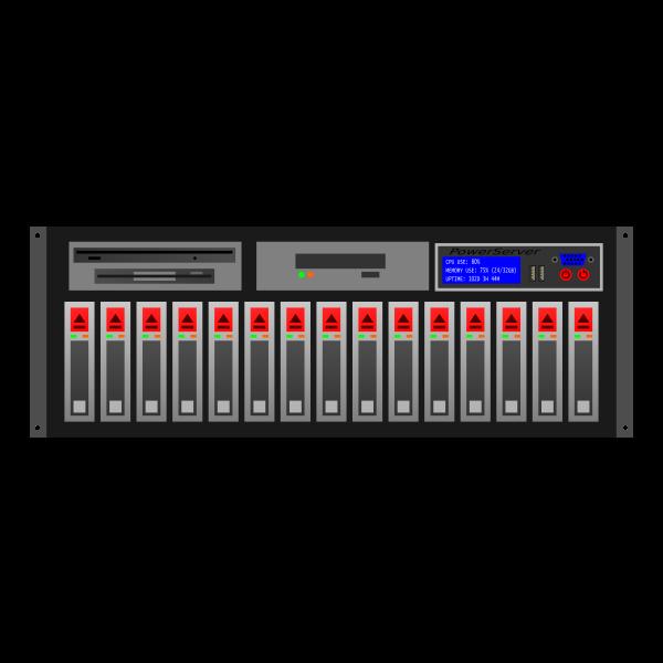 Server rack vector clip art