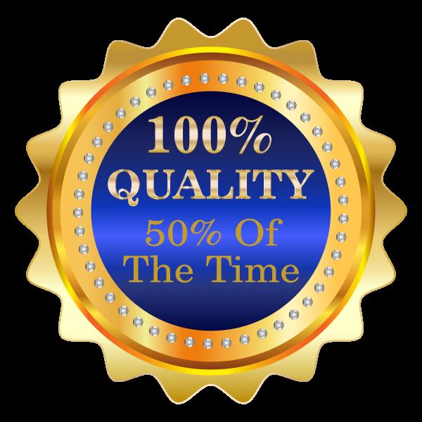 Fifty percent quality