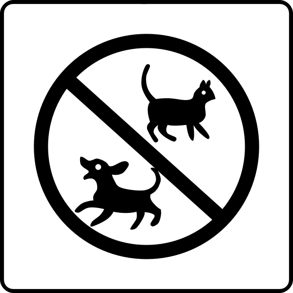No pets hotel sign vector clip art