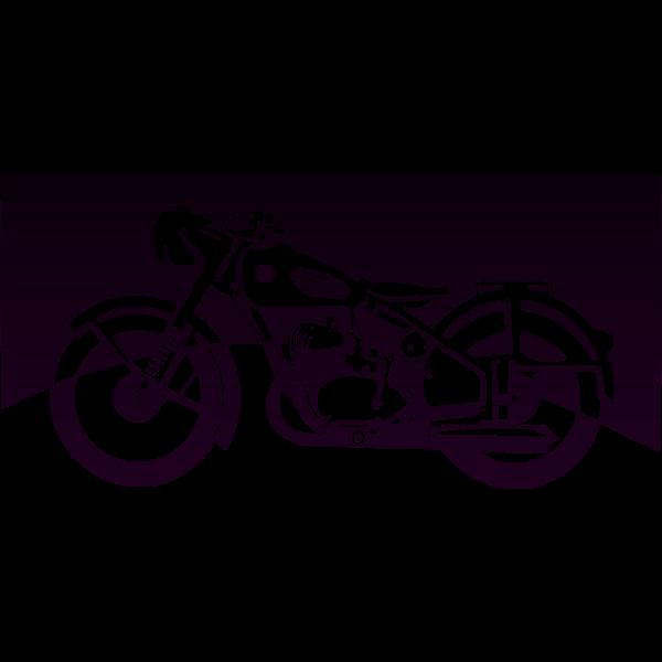 Motorbike of the 1950ies vector