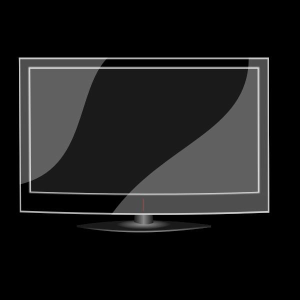 Flat TV vector image