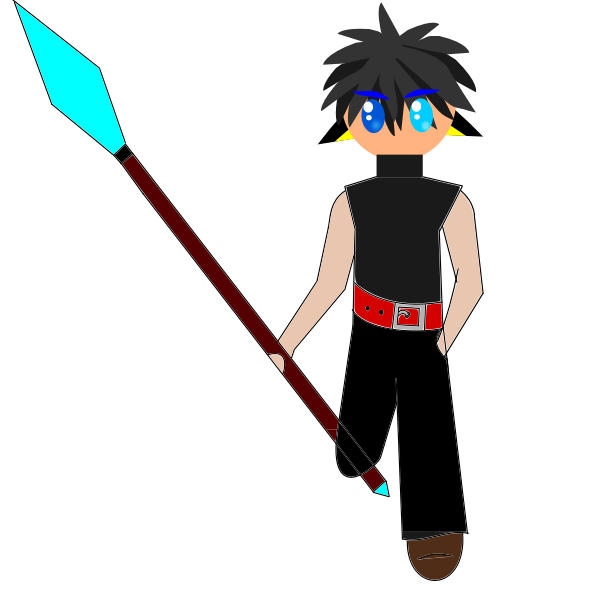 Anime character with spear
