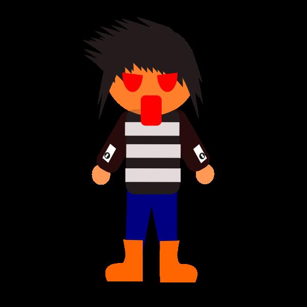 Suprised cartoon character