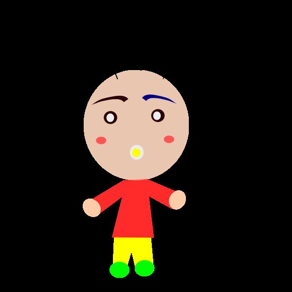 Colorful cartoon boy vector image