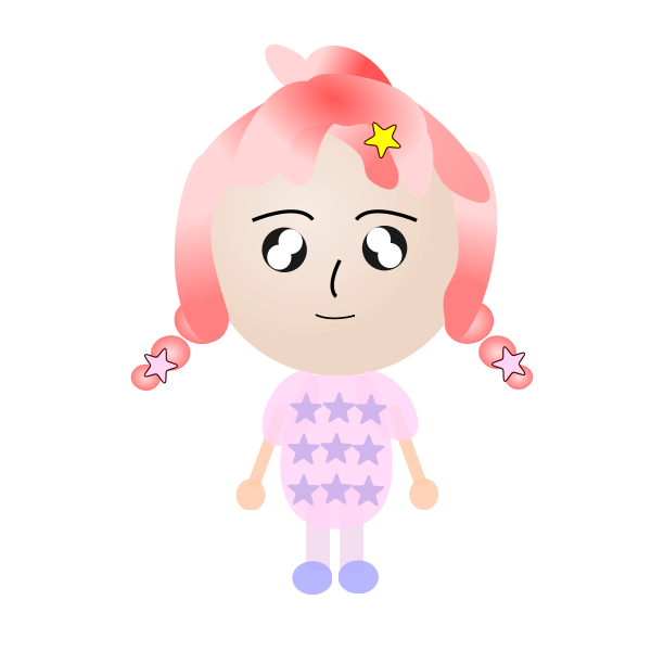 Girl with starry pig tails