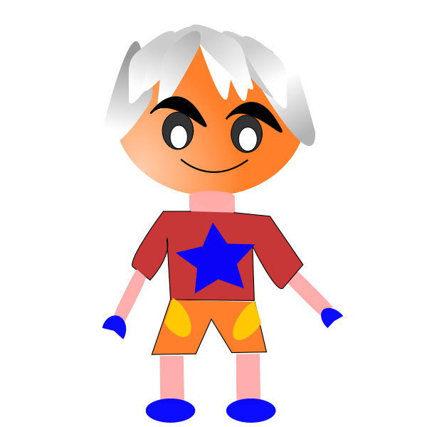 Gray-haired boy vector image