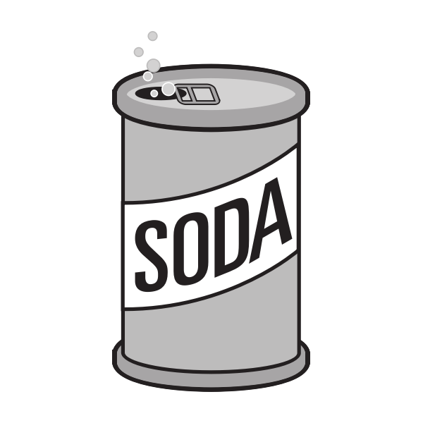 Opened can of soda drink vector image