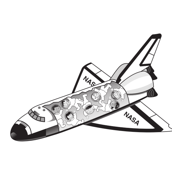 Vector image of a space shuttle