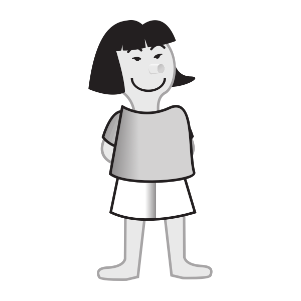 Vector image of a female