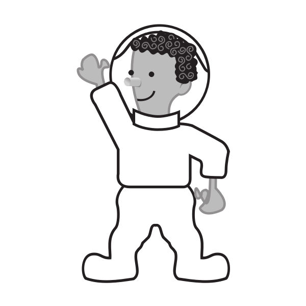 Astronaut vector drawing