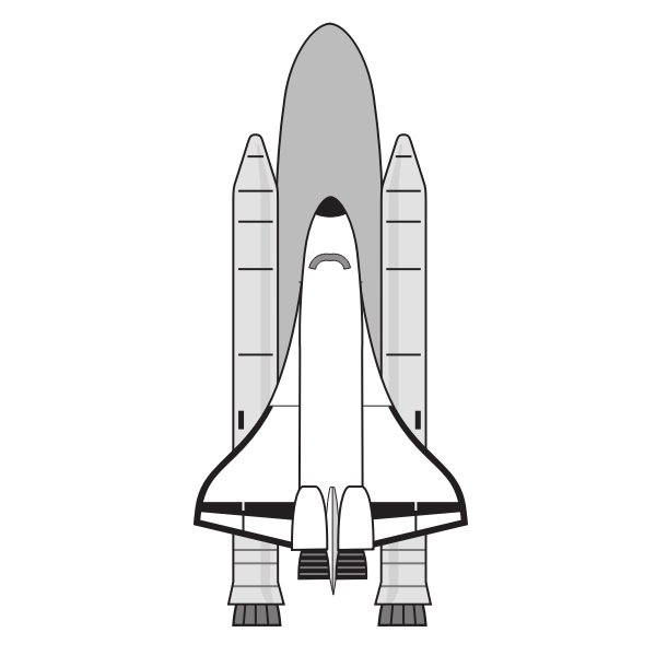 Vector image of NASA space shuttle