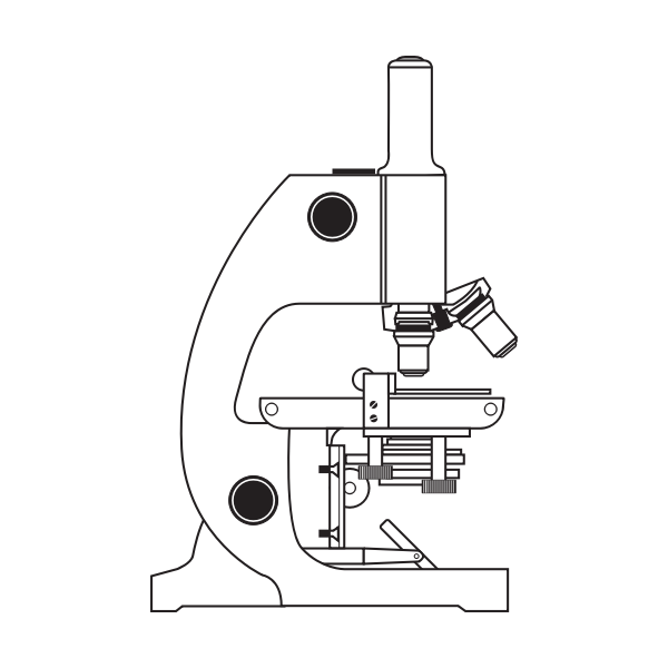 Microscope vector drawing