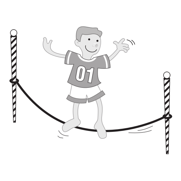 Boy on a string vector illustration