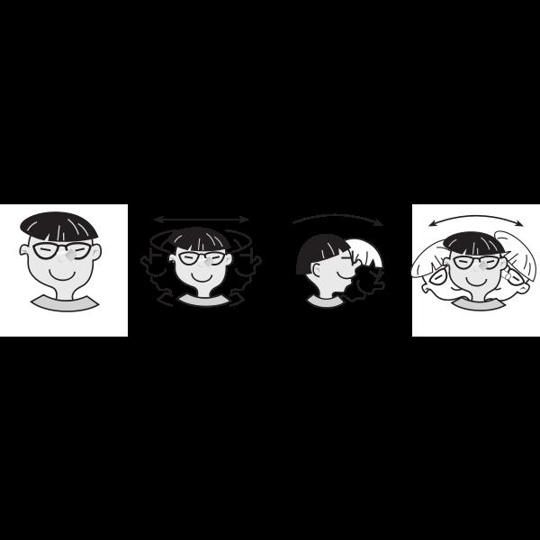 Head twist vector illustration