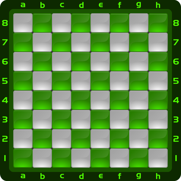 5 Chessboard Color Verde Clipart by DG RA
