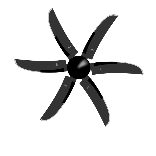 Dowty 6-blade propeller