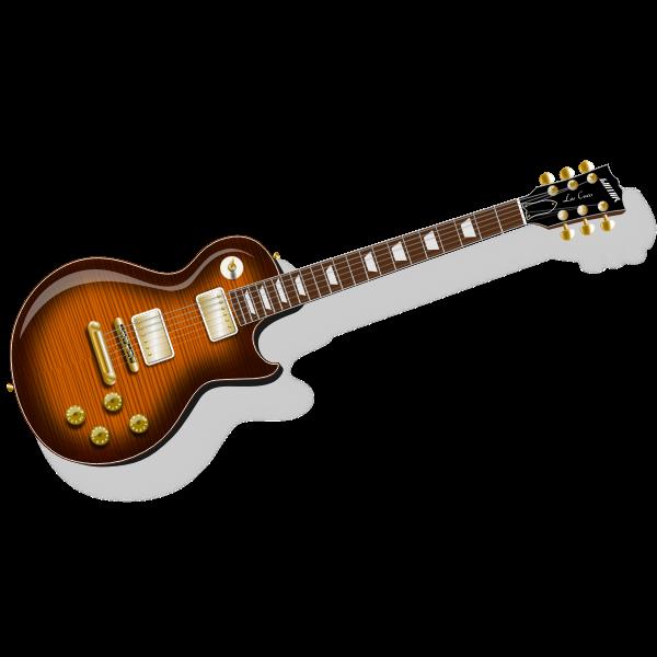 Classic rock guitar photorealistic vector clip art