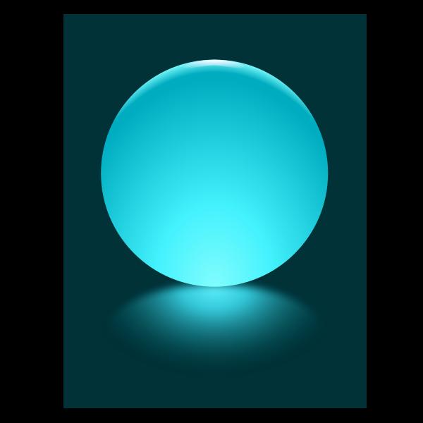 Cyan Sphere Blurred Reflection