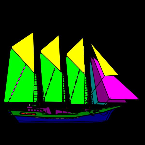 Colourful sailboat