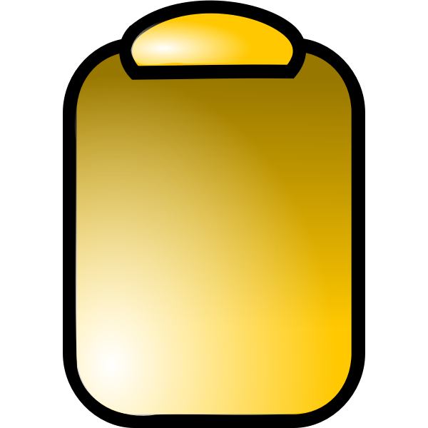 Vector drawing of office clipboard