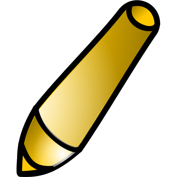 Vector clip art of brown tilted pen