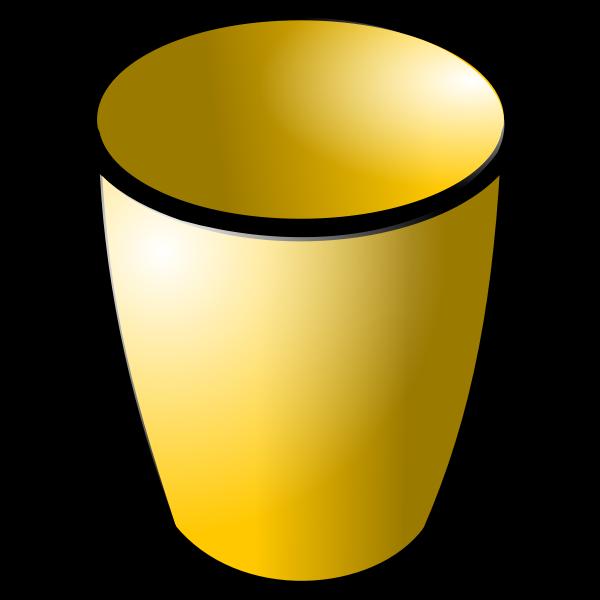 Glossy brown pot vector drawing