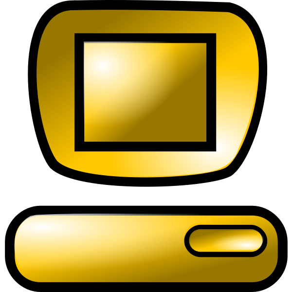 Vector image of brown colored computer hard disc
