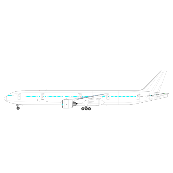Boeing 777 Vector Graphics