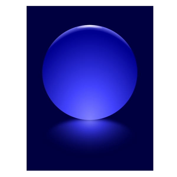 7 Blue Sphere Blurred Reflection