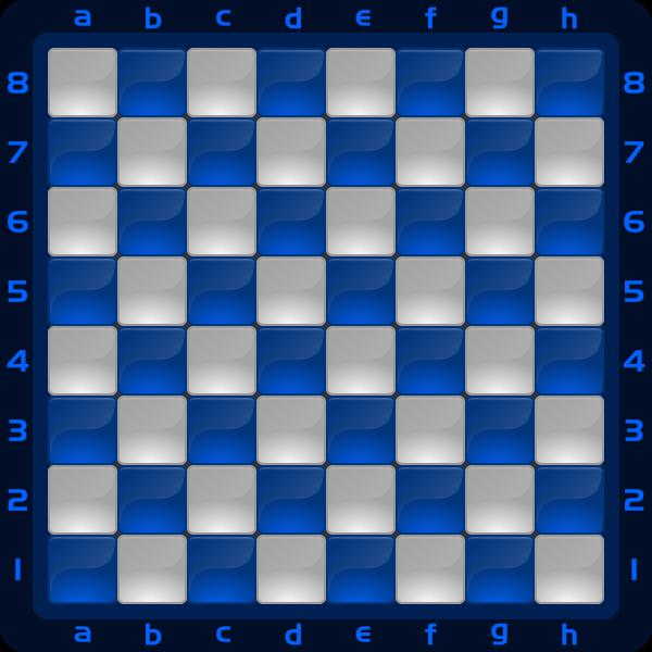 7 Chessboard Color Azul Clipart by DG RA