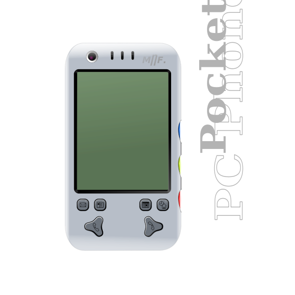 Photorealistic vector image of LCD mobile phone