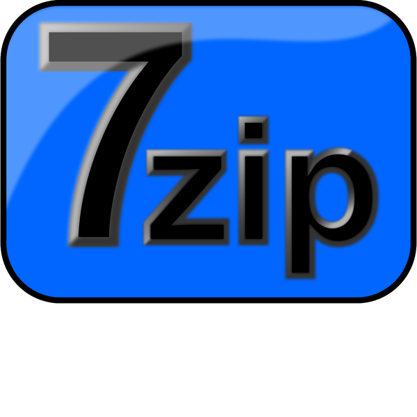 7zip Glossy Extrude Blue