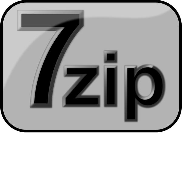7zip Glossy Extrude Gray