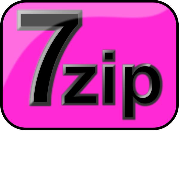 7zip Glossy Extrude Magenta