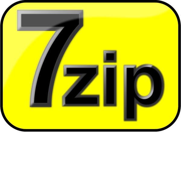 7zip Glossy Extrude Yellow