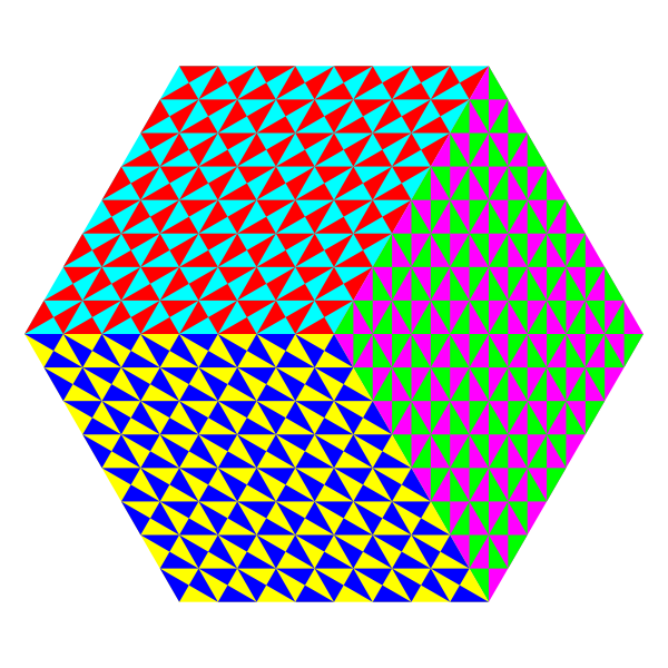 3d cube colorful pattern