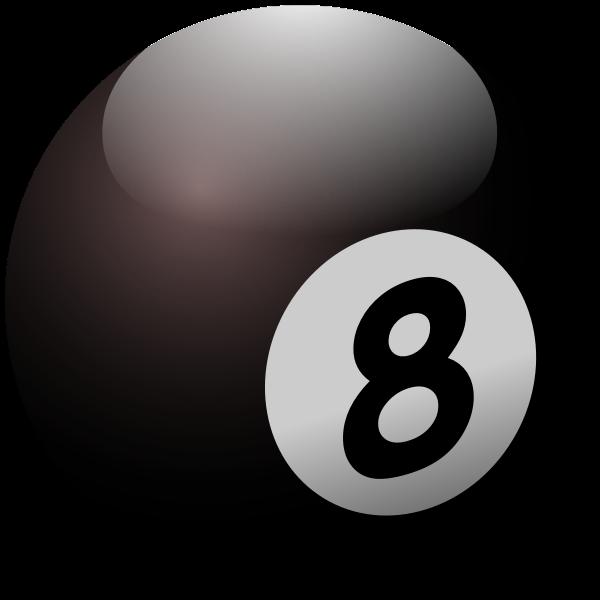 Vector illustration of billiard ball number eight