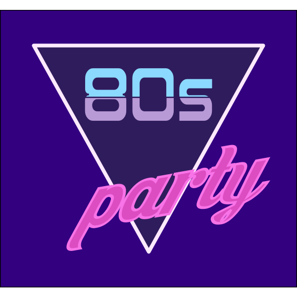 80s party ad