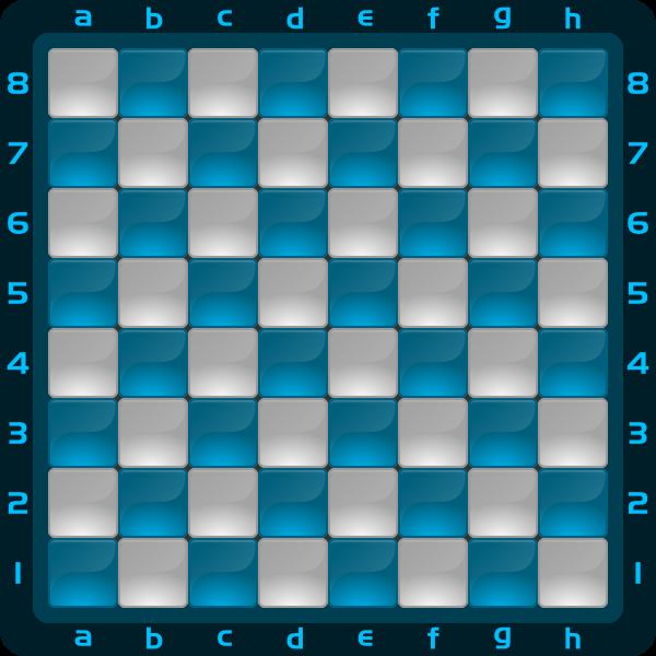 8 Chessboard Color Azul Claro Clipart by DG RA