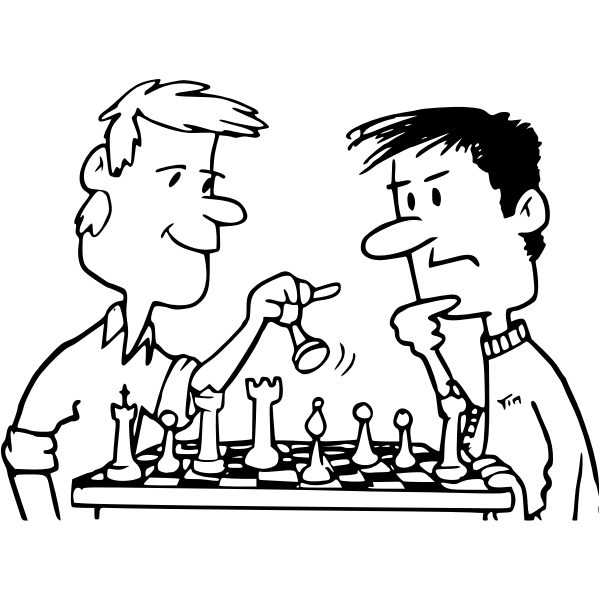Chess from coloring book