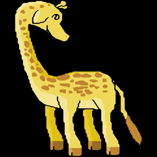 Pixel giraffe