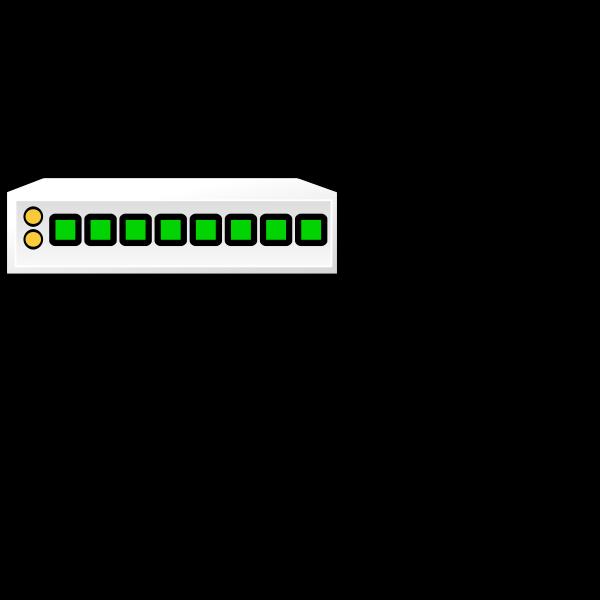 8-port switch icon