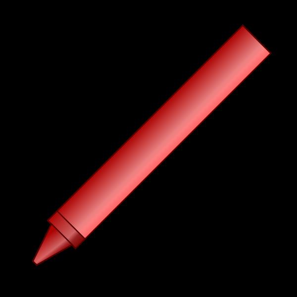Red crayon vector image