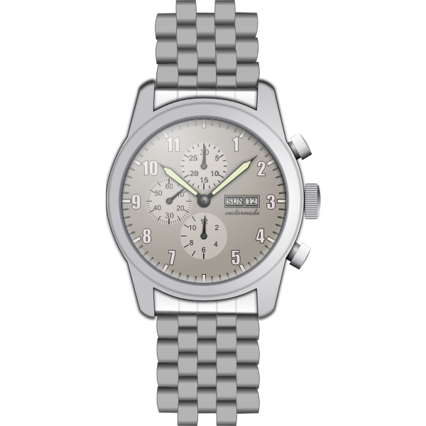 Analogue watch vector graphics