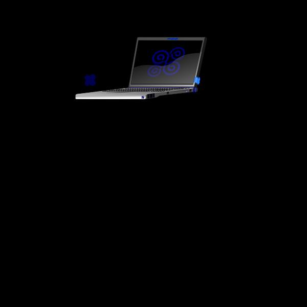 Branded laptop vector image