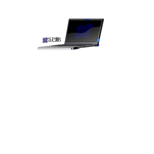 Branded laptop vector image